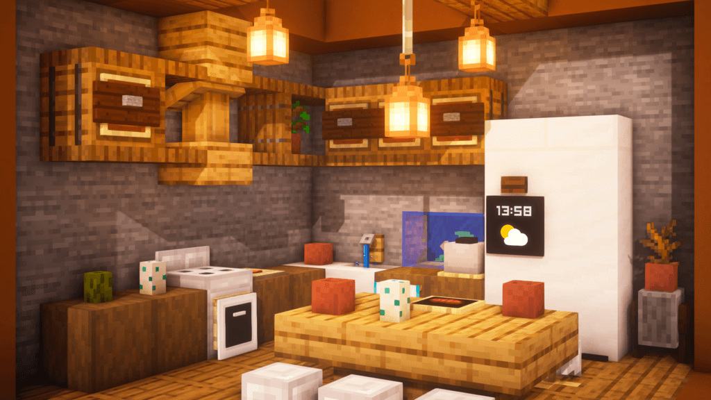 Minecraft Cooking Area Concepts - The Story